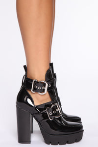 Little Bit Of Attitude Booties - Black