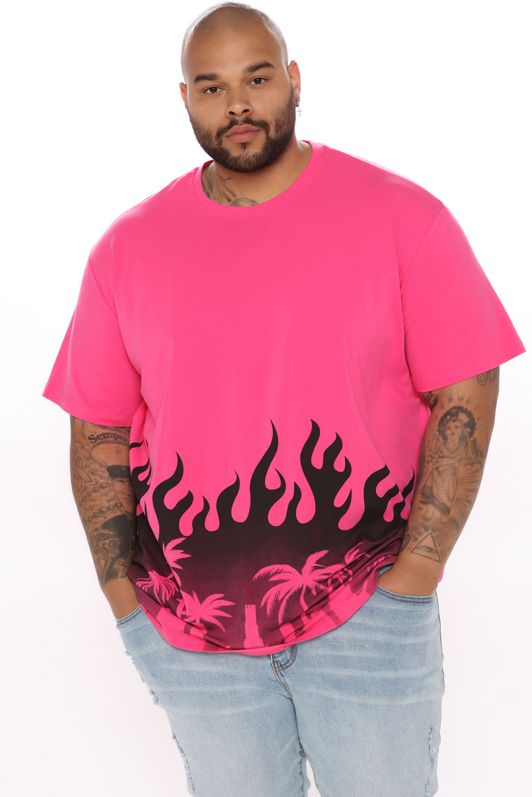 City Flames Short Sleeve Tee - Pink/combo