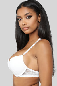 Falling Out Push Up Bra - White