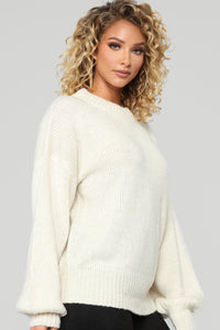 Cozy By The Fire Tunic Sweater - Cream