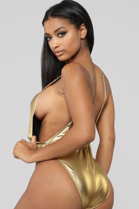 Standout Metallica Swimsuit - Gold