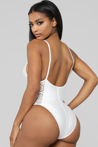 Martini Swimsuit - White Angle 3