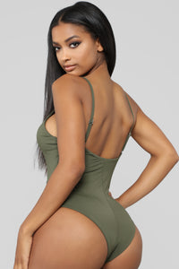 Malibu Pool Party Swimsuit - Olive