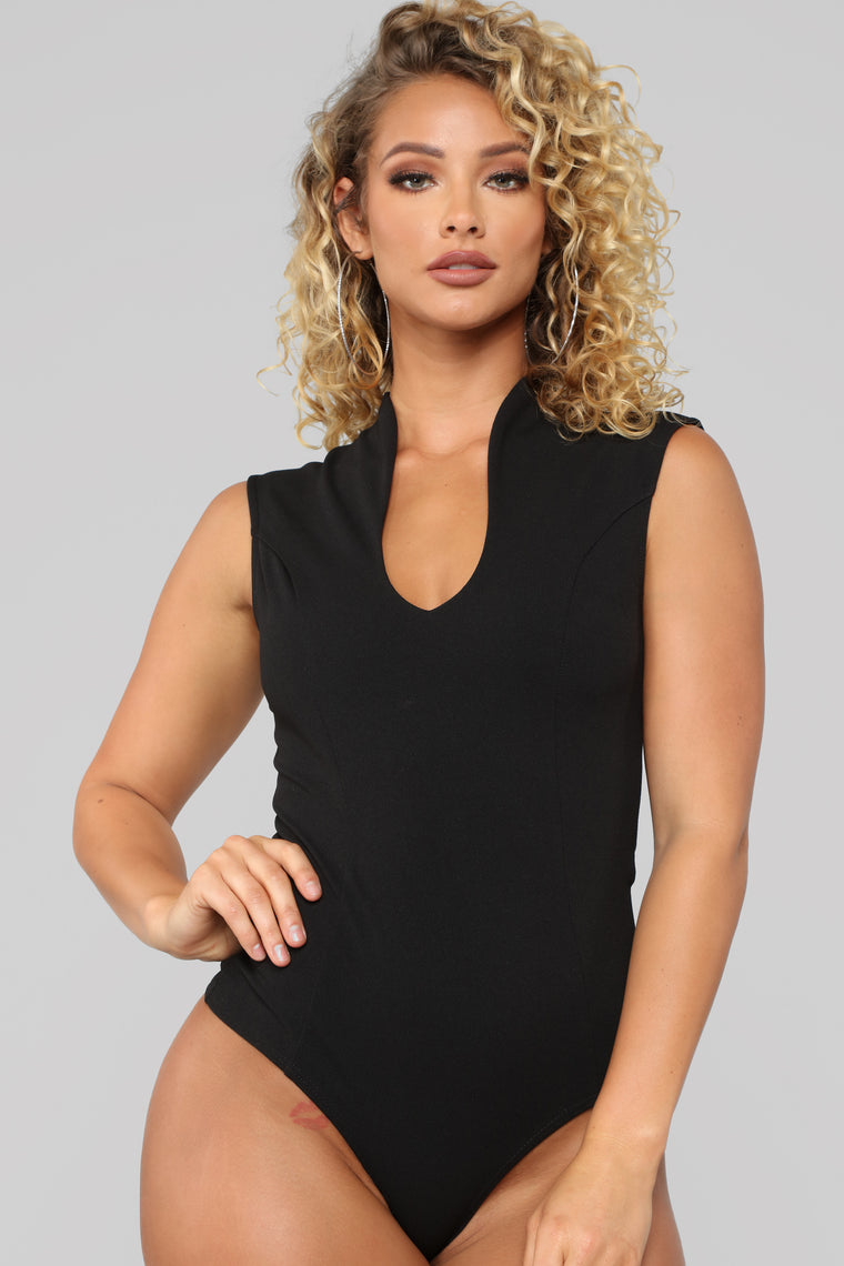 Not Into You Bodysuit - Black
