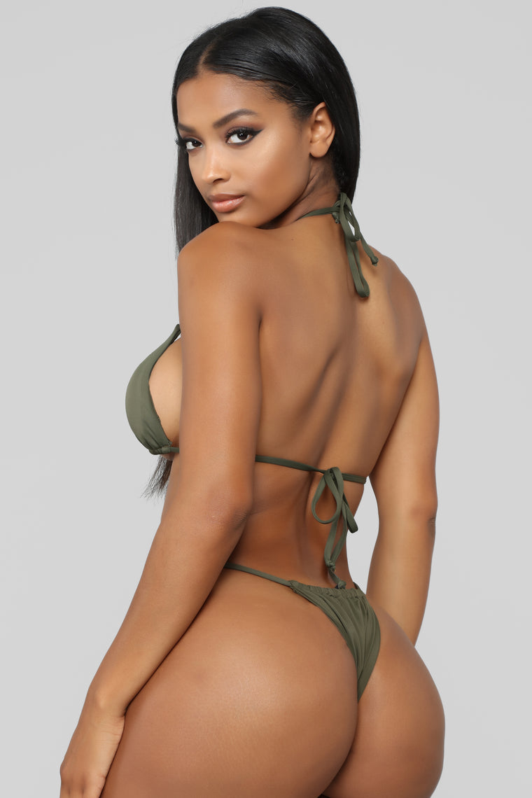 Brazilian Holiday Bikini Set - Olive