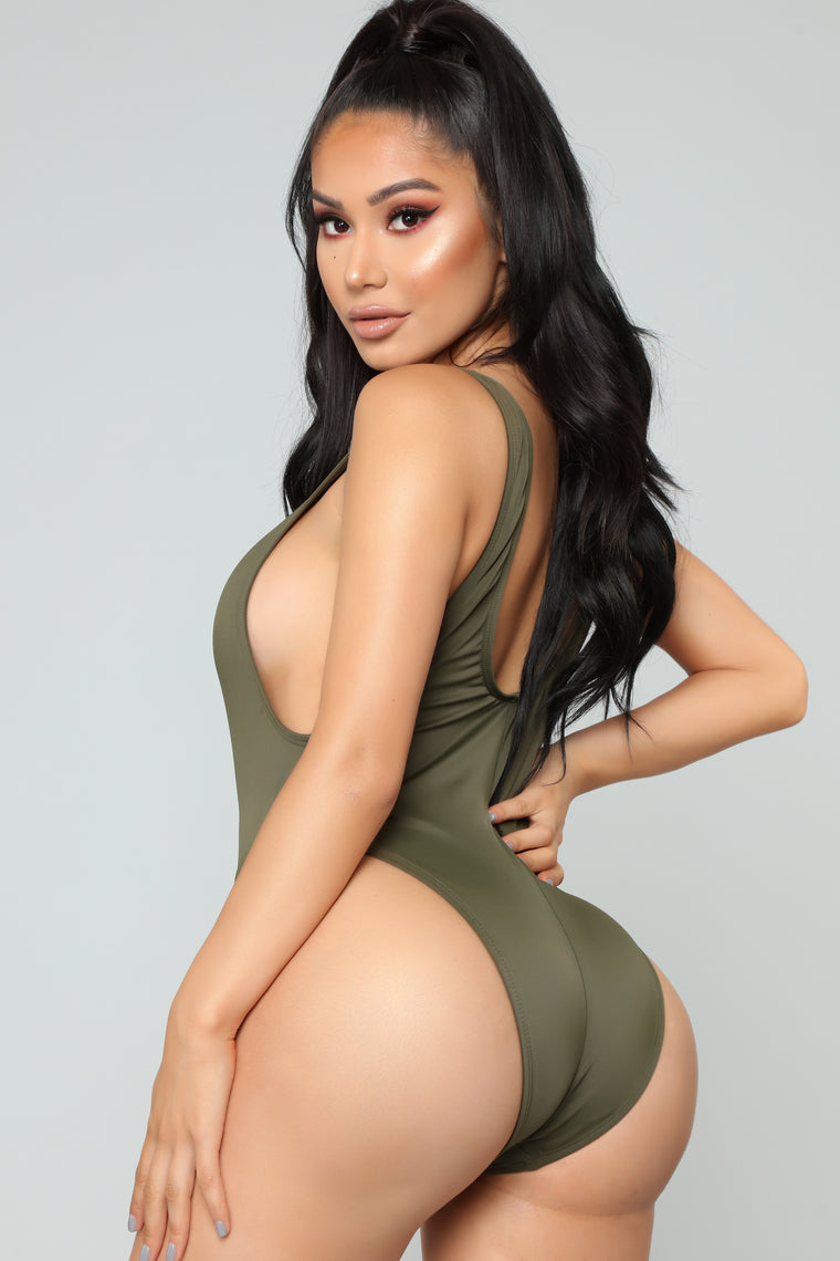 Catalina Island Swimsuit - Olive
