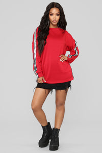 Own The Game Sweatshirt - Red