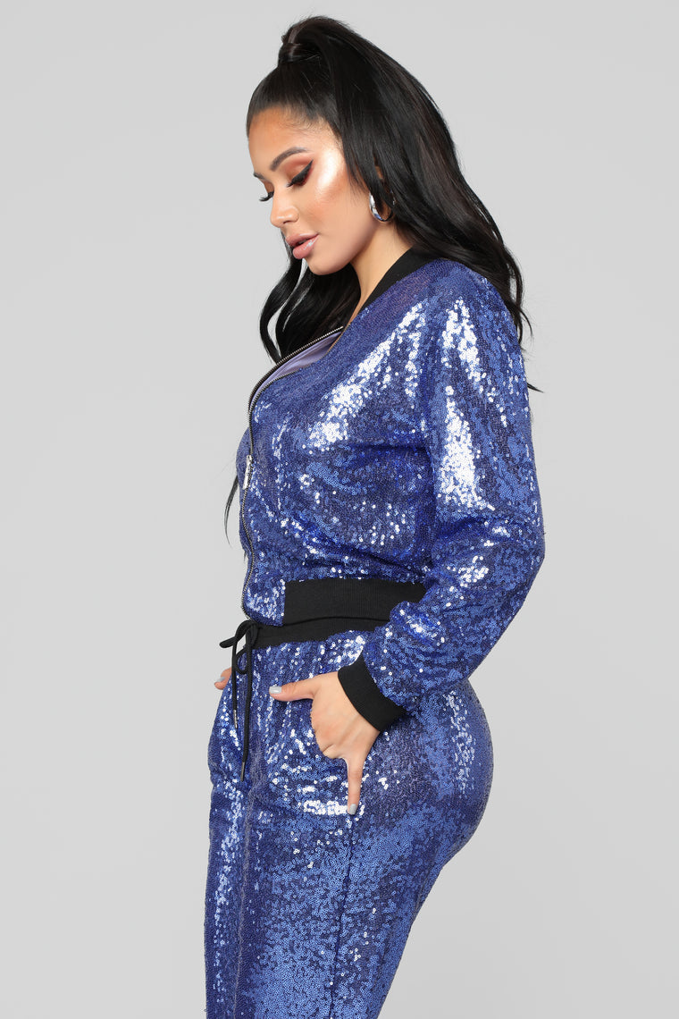 All That Glimmers Sequin Set - Navy