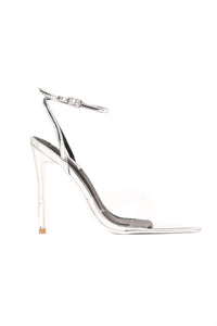 Judgement Free Heeled Sandal - Silver Angle 2