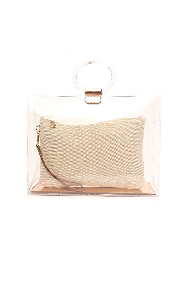 Transparency Tells Tote - Rose Gold
