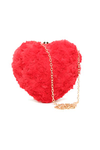 Fur My Lover Bag - Red
