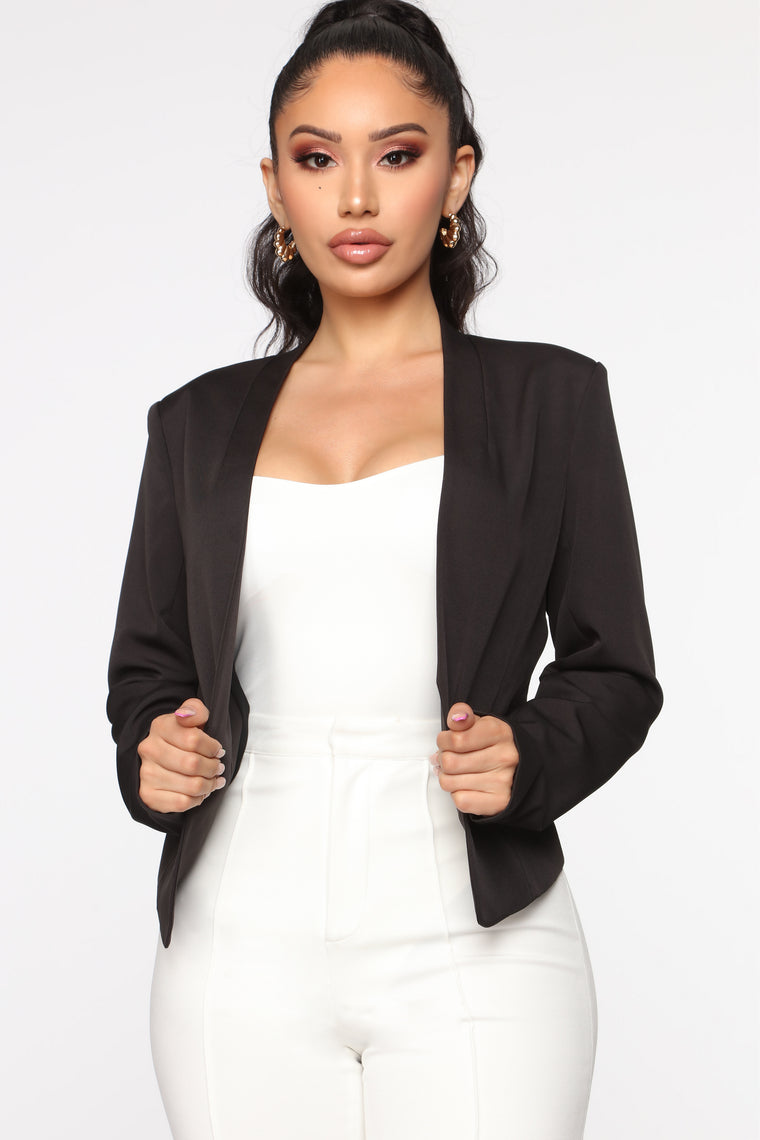 There For You Blazer - Black