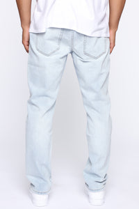 Derrick Straight Leg Jeans - Light Fade Wash Angle 5