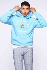 PlayStation International Hoodie - NeonBlue Angle 1