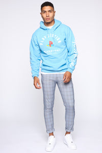 PlayStation International Hoodie - NeonBlue Angle 2