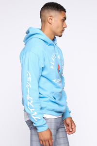 PlayStation International Hoodie - NeonBlue Angle 3