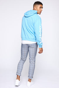 PlayStation International Hoodie - NeonBlue Angle 5