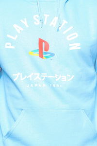 PlayStation International Hoodie - NeonBlue Angle 6