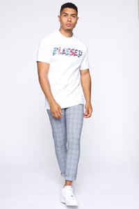 Blessed Tie Dye Short Sleeve Tee - White/combo Angle 3