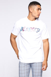 Blessed Tie Dye Short Sleeve Tee - White/combo Angle 2