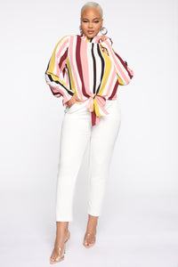 Set It Straight Blouse - Multi Color Angle 7