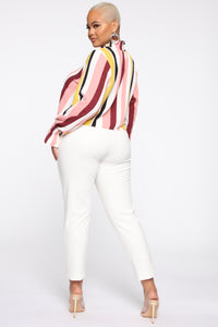 Set It Straight Blouse - Multi Color Angle 10