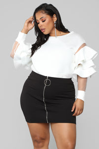Give Me More Ruffle Top - Off White