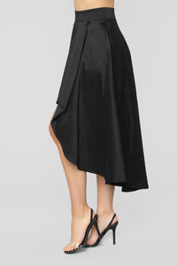 Adriana Hi Low Skirt - Black