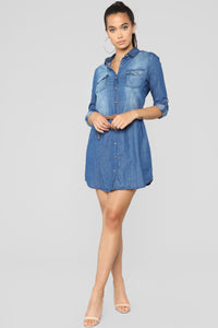 Denim For Days Dress - Blue Denim