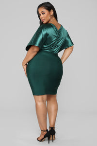 Into The Night Bandage Dress - Green