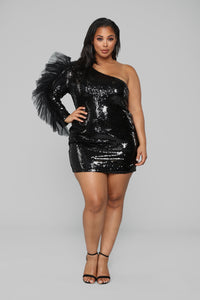 Always A Diva Sequin Dress - Black Angle 5