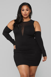 Date Night Mesh Dress - Black Angle 6