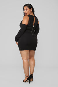 Date Night Mesh Dress - Black Angle 7