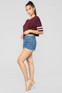 Don't Sweat It Active Top - Burgundy