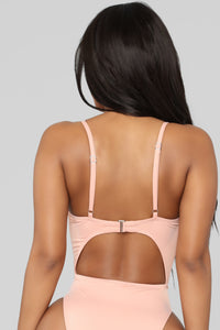 Royally Tied Swimsuit - Peach