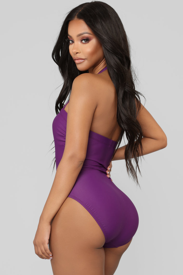 Mixed Drinks Mixed Feelings Swimsuit - Purple