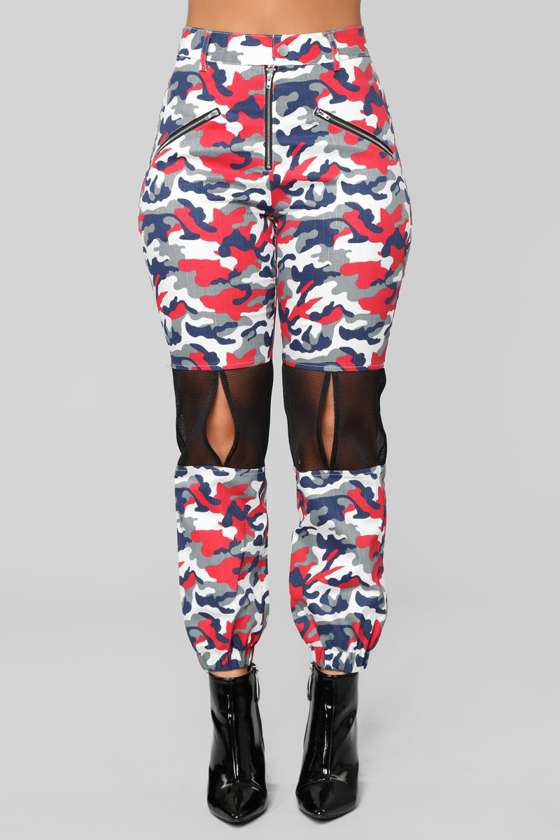 Camo Foreva Cargo Pants - Red