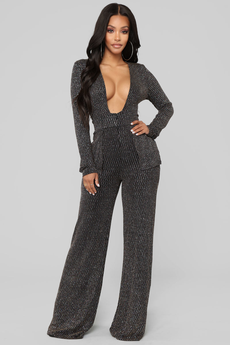 Dancing Queen Lurex Jumpsuit - Multi