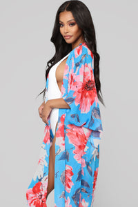 Say You're Mini Kimono - Royal Combo