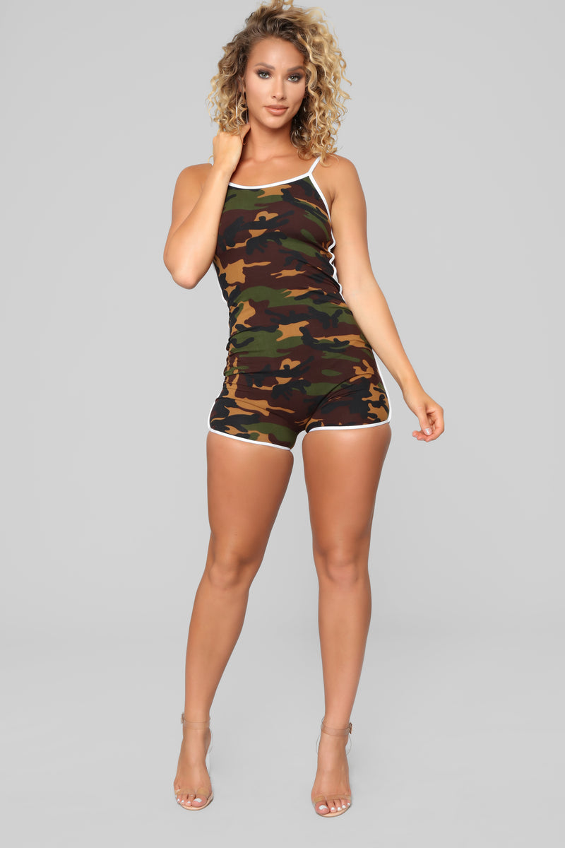 Easy As Can Be Lounge Romper - Olive