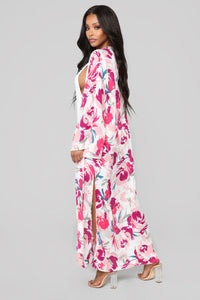 On The Terrace Floral Kimono - Off White/combo