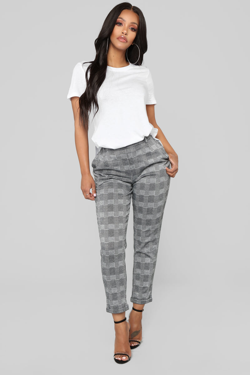 d4b6e9670ad Business Attire. 126 results. Here On Business Plaid Pants - Black White