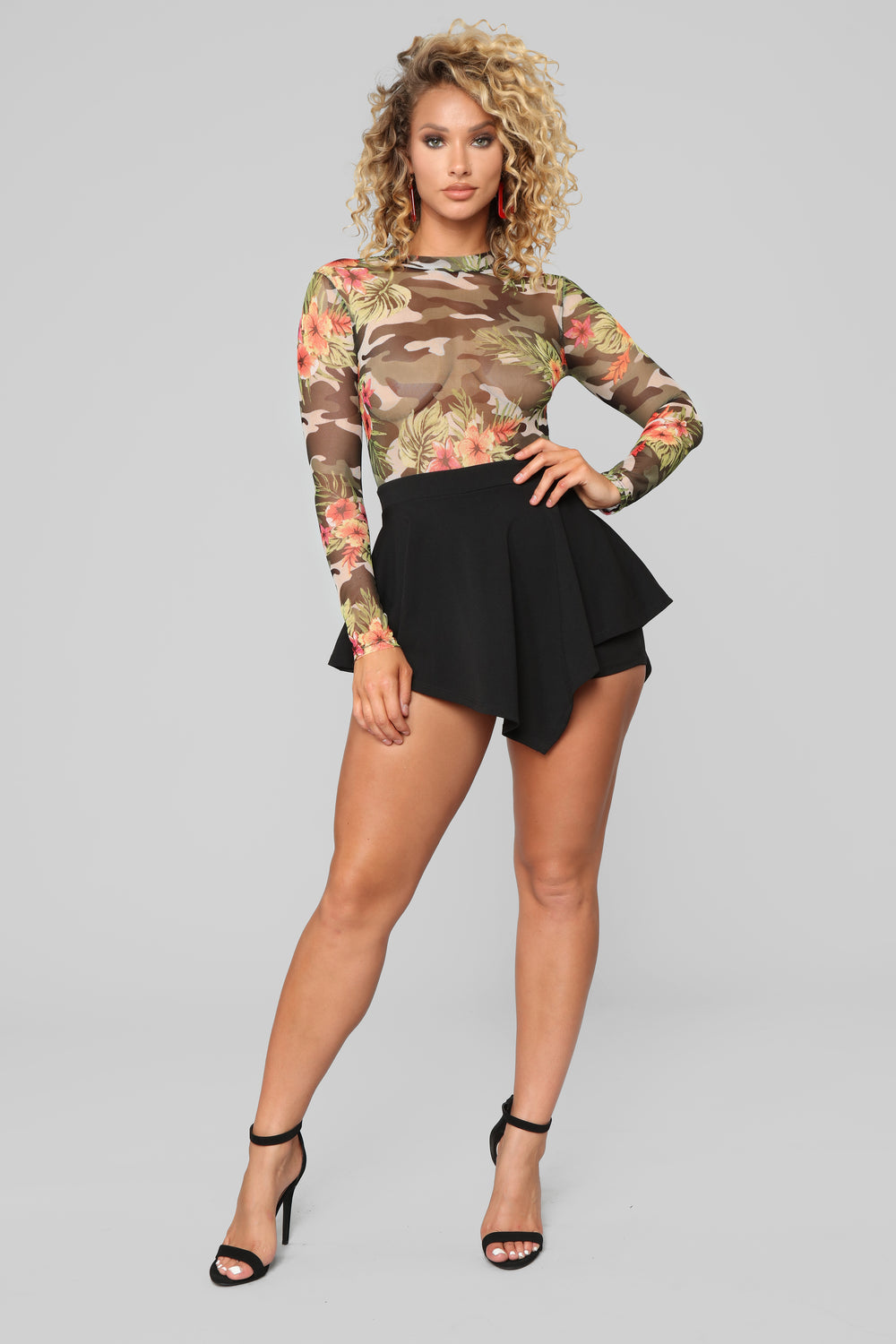 Don't Mesh With Me Romper - Black