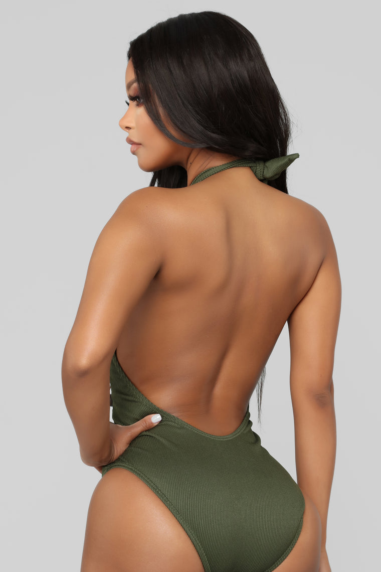Caught In The Waves Swimsuit - Olive