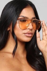 My Protection Shield Sunglasses - Orange Angle 1