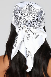 Saddle Up Head Scarf - White