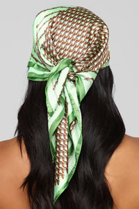 All Wired Up Head Scarf - Green