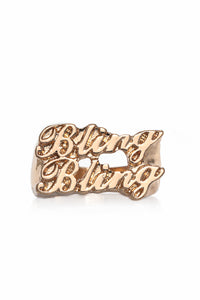 Bling Bling Chunky Ring - Gold Angle 1