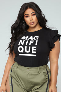Most Magnificent Ruffle Top - Black