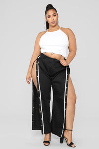 Snap To The Top Pants - Black/Grey Angle 13